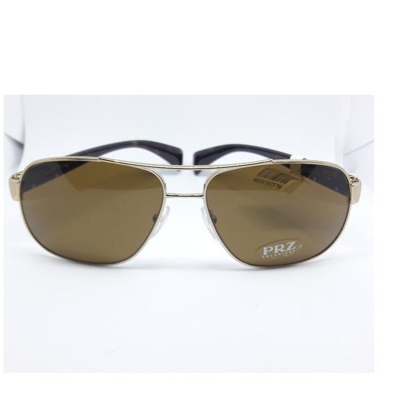 a979d82277751 RADA Timeless Conceptual Gold Brown Sunglasses. NWT. Prada